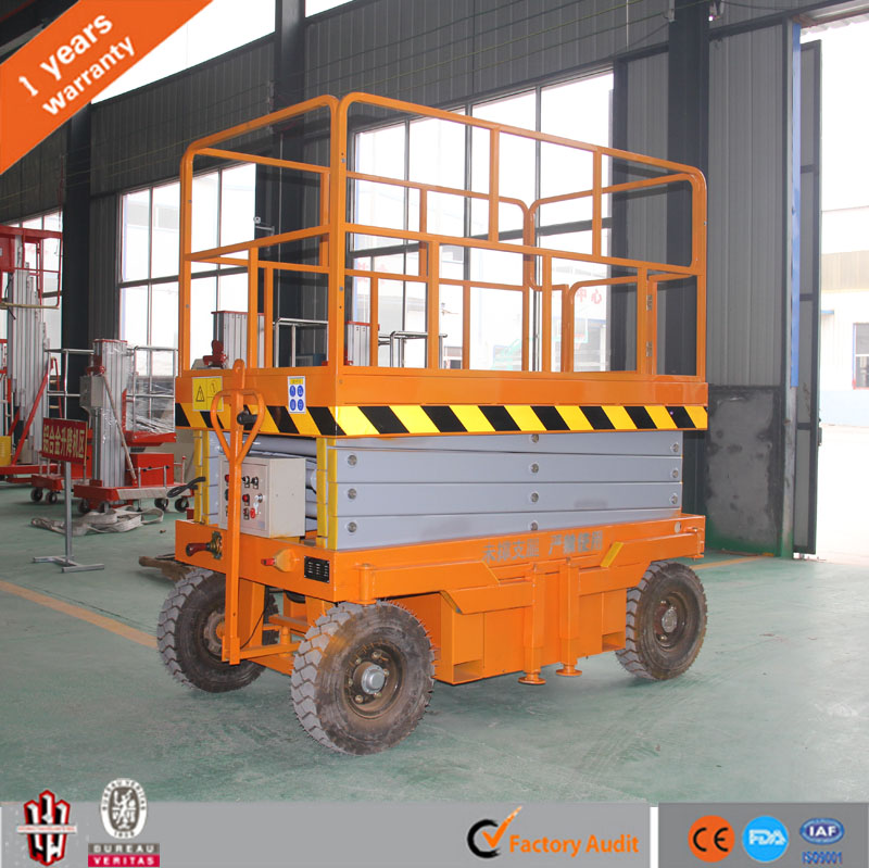 explosion-proof Mobile scissor lift / hydraulic aerial lift / electric elevated platform Lifting height 14m