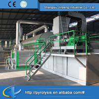 Continuous or unremittent waste plastic pyrolysis plant