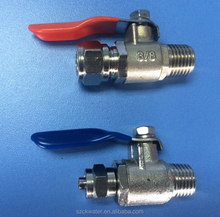 "feed water ball valves,3/8""*1/2 ball valve for RO system"