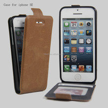 PU leather card slot mobile phone case for iphone SE, wallet cell phone cover for iphone 5
