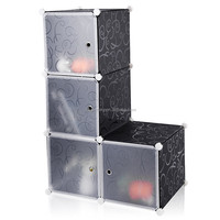 DIY Modular PP storage box Wrie Grid Cube plastic storage box for home decotation