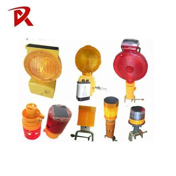 Waterproof flashing solar power led warning light