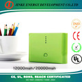 good battery backup mobile Rechargeable Large Capacity Power Bank 12000/20000 mAh