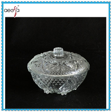 Transparent Glass Tableware Dinnerware Plate With Lid