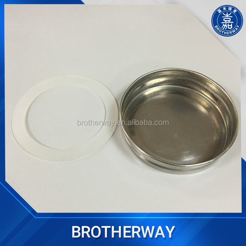 304 stainless steel 70mm flat metal lids with silicone ring for mason jar