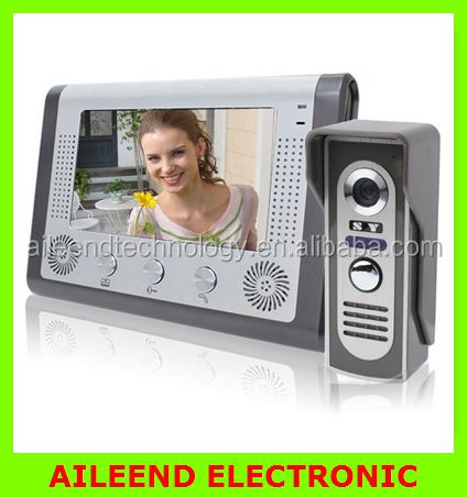 7 inch Color TFT LCD Home Security Video Door Phone