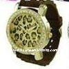 Custom Leopard Print Diamond Watch