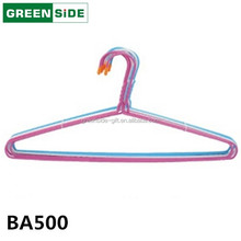 VA500 reliable hanger factory laundry storage PE coated metal clothes hanger