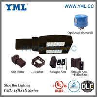 Outdoor UL DLC Parking lots High Lumen LED shoe box 150W outdoor applications IP65 warranty 5 years