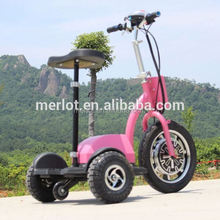 New design three wheeler standing up alloy wheels for motorcycles with big front tire