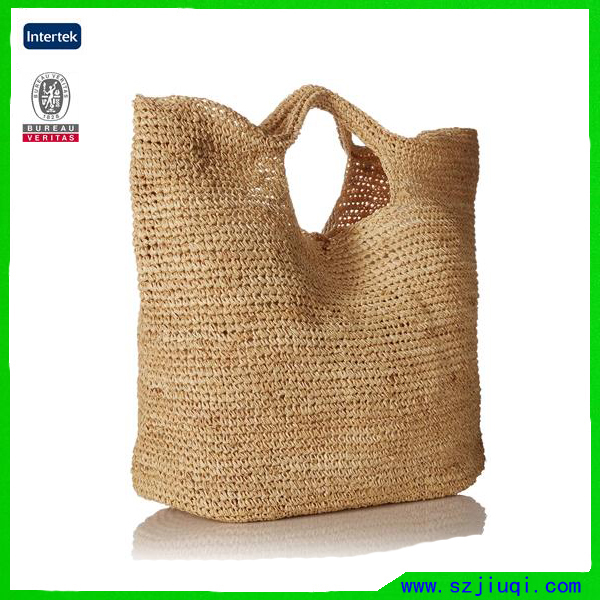 Hot Selling Summer Vacation Beach Straw Large Tote Bag