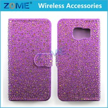 Luxury Full Body Bling Diamond Flip Leather Wallet Case For iPhone 6 6S/5S 5/6 6s Plus