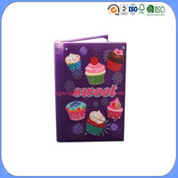 Fancy LED flashing twinkling high secret paper notebook diary journal with protective plastic cover