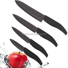 Home collections 4pcs black blade ceramic knives set ceramic knife set