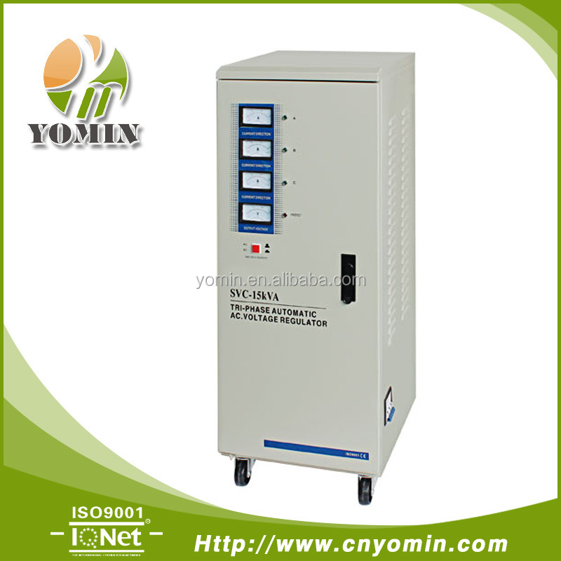 Manufacturer YMTSVC2-15 Three Phase Servo Motor Stabilizer,Automatic Voltage Stabilizer 15KVA /