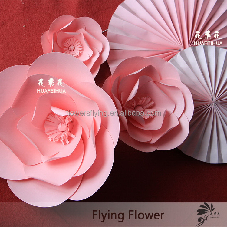 Shanghai manufacture Supreme Quality big paper decoration flower