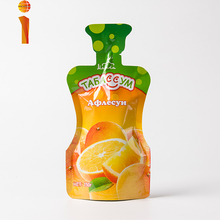 Factory wholesale customize aluminum foil bag resealable stand up pouch bag juice pouch for beverage
