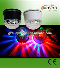 Newest Small Crystal Star Ball, 6 Colors LED Sun Star Light,With IR Control