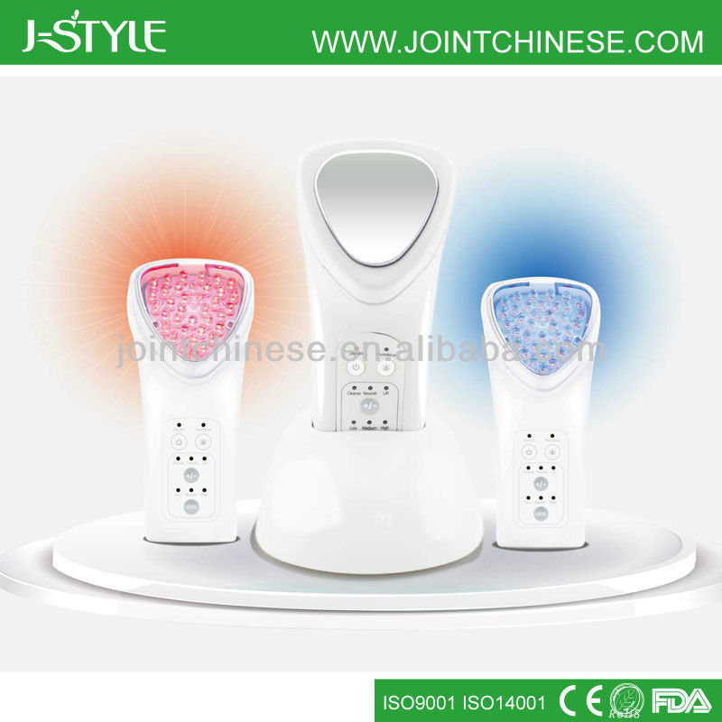 Mini Rechargeable IPL LED light photon galvanic microcurrent multifunction electronic face massager