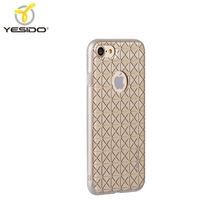 3D imd golden sublimation phone case smart phone case cover shell for apple for iphone 7 with hole gold printing for iphone case