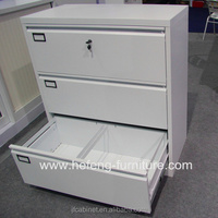 3 Ties Lateral Drawer Steel Cabinet