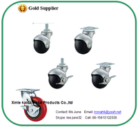 screw heavy duty rubber office chair casters