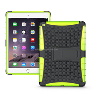 8 Colours Mix Wholesale Hybrid Combo Shatterproof Kickstand Case Kid's Tablet Stand Cover Car Holder For iPad Air 2/For ipad 6