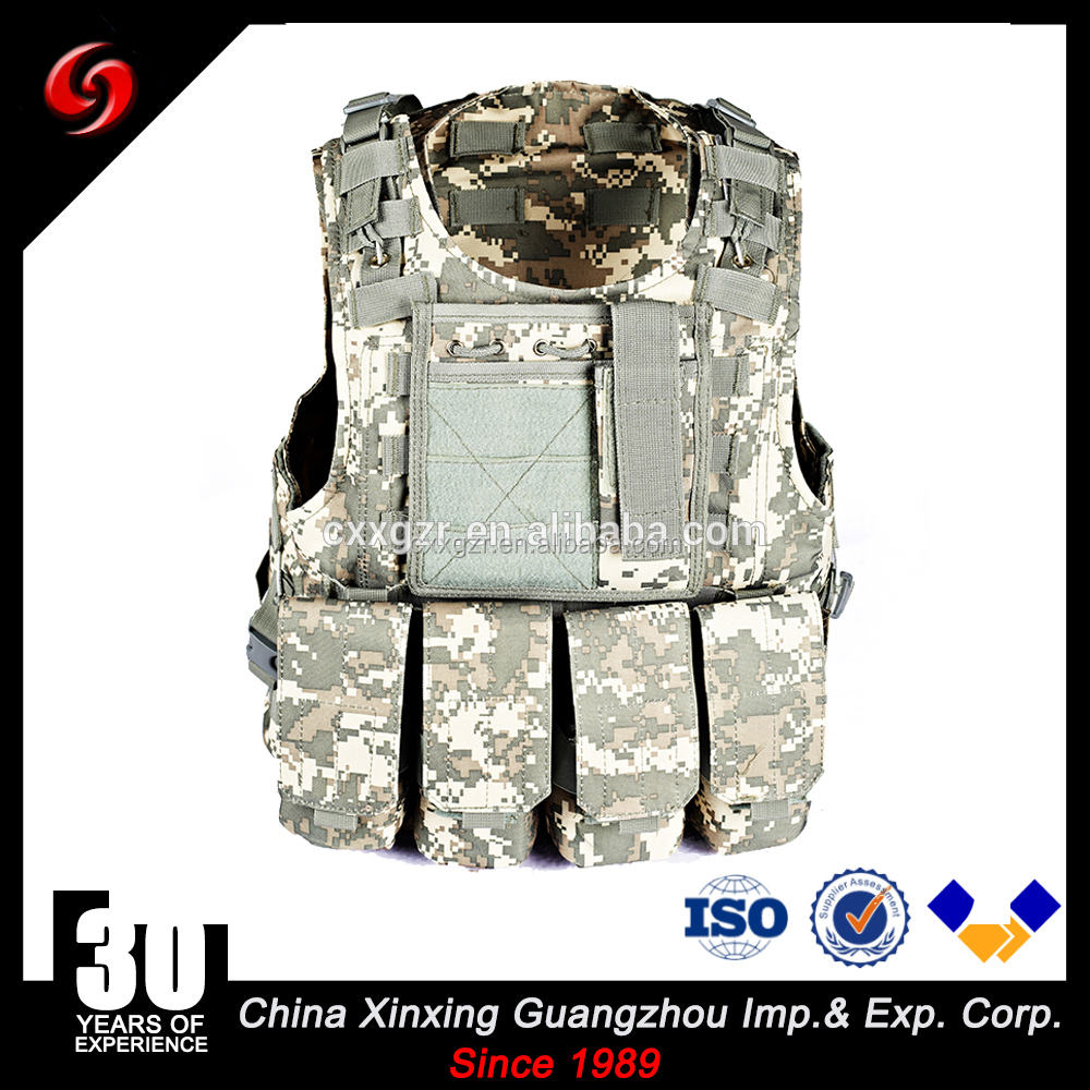 quick released systerm outdoor military tactical mesh 600D polyster camouflage color vest army military combat vest