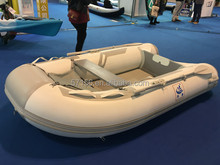 Fashionable inflatable boat with air mat floor