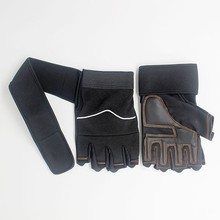 black Dumbbell <strong>weight</strong> lifting fitness unisex free size gym gloves