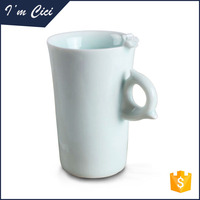Hot sale flower decorated ceramic coffee mug CC-C081