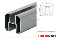 Hot sales Toilet Cubicle Partition Aluminum Extrusion Profile Square Pipe