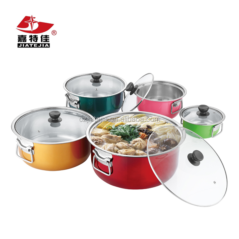 BEST selling products stainless steel kitchen accessories cookware sets 14-30CM