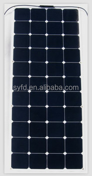 135W semi flexible solar panel for boats, caravans, launch use with CE
