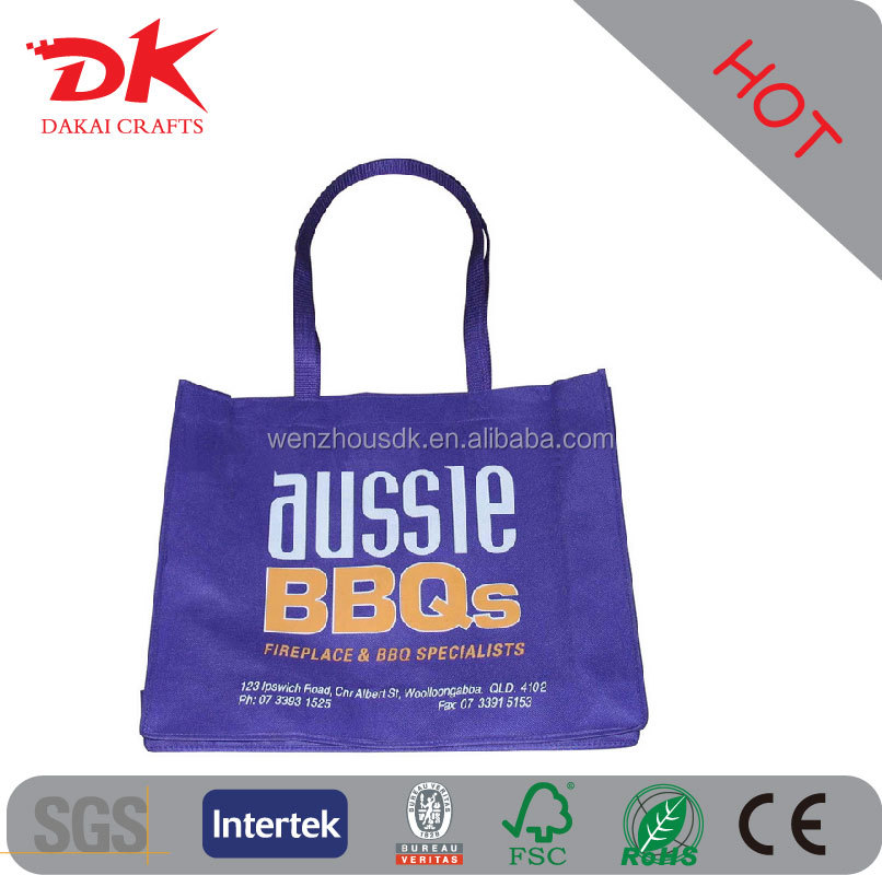 Cheap logo printed Promotional fashionable non woven bag for shopping