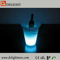Hot sale rechargeable light up color chang open top beverage cooler for wedding event