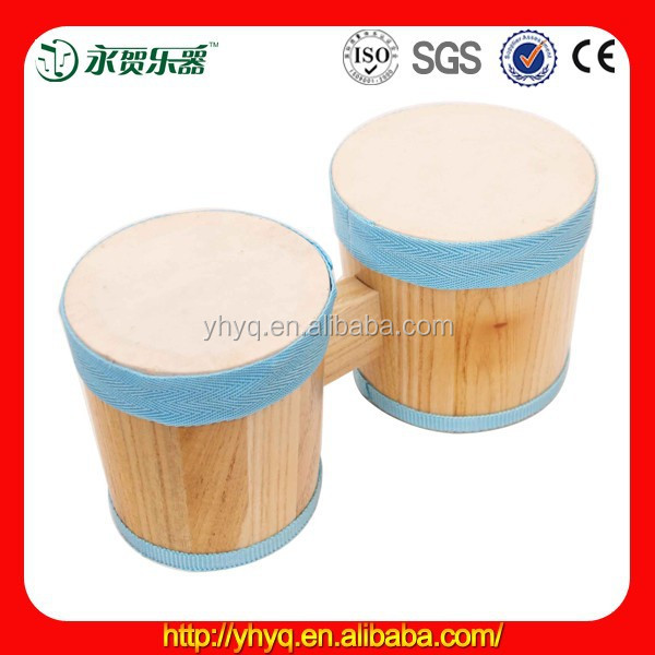 Music instrumnet wooden bongo drums with baby picture
