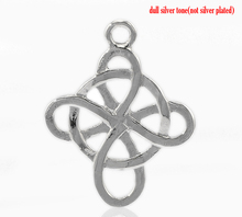 Wholesale Jewelry Supplies 20PCs Silver Tone Celtic Weave Unique Cross Pendants