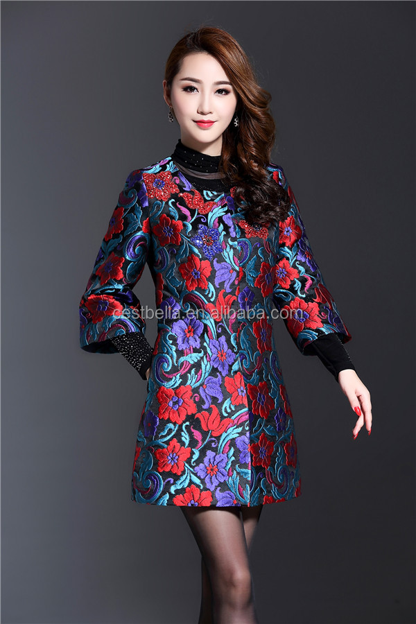 new latest design autumn winter long sleeve Middle East style women casual outwear fashion coat