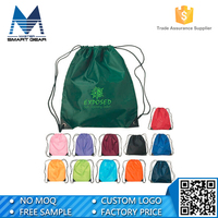 Promotional Competitive Price Wholesale Drawstring Polyester Bag With Logo Printing