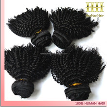 High quality jet black afro curl hair cheap virgin 8 inch curly brazilian hair