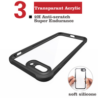 Crystal High Clear TPU Acrylic Mobile Phone Cover For Iphone 7, For Iphone7 Clear Case