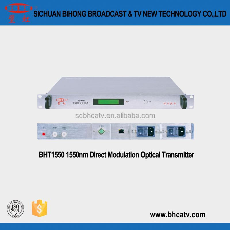 high-standard fiber coax equipment 1550nm directly modulated optical transmitter