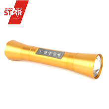 China Supply Bluetooth Microphone Speaker with Led Torch Flashlight Powerful Led Flashlight