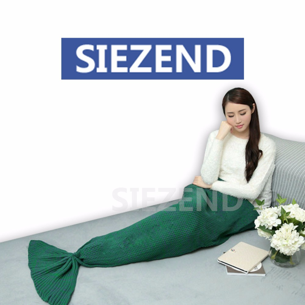 Hottest Selling Tail Adult Mermaid Blanket, Adults Age Group and Knitted Technics High Quality Blanket Pile/