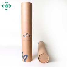 Customized printed kraft cylindrical box packaging paper mailing tube