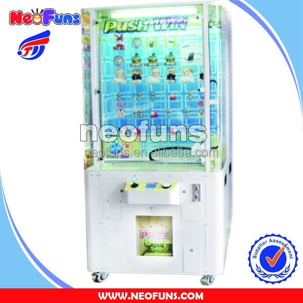 2016 Best Sell Coin Operated Push Prize Win Vending Entertainment Children Game Machine for Game Center