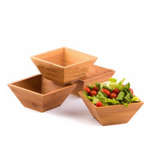 Christmas decoration 2017 popular bamboo bowl for for serving salad, pasta, soup and fruit