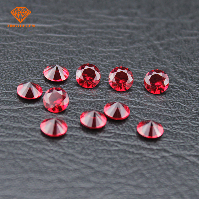 Red glass gems red zircon fire red glass stone made in China