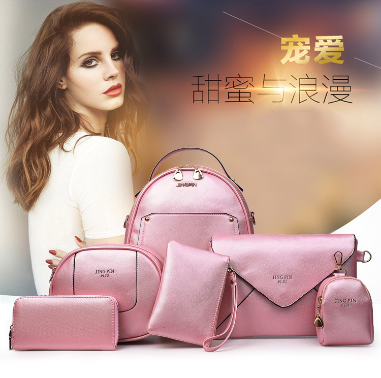 Freeshipping Women's Designer Purses And Handbags Set Satchel Shoulder Bags Totes 5pcs Clutch Wallets For Women